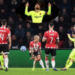 Messi ស៊ុតគ្រាប់បាល់យ៉ាងស្អាត ឱ្យ Barcelona ឈ្នះ PSV ២-១ ហើយបង្កើតកំណត់ត្រាទៀត