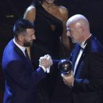 នេះចំណាត់ថ្នាក់លំដាប់ពិន្ទុទាំង ១០ នៃពានរង្វាន់ FIFA The Best